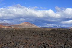 Wild volcanic landscape at Timanfaya National Park, Lanzarote Is Royalty Free Stock Photo