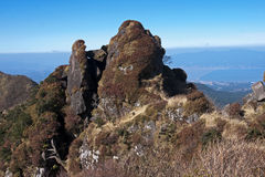 View of the volcanic summit stock photography