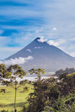 View at the volcano Arenal over lake Arenal in Costa Rica Stock Photos