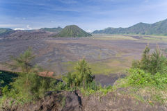 View of the volcano Bromo in the Indonesia Jawa island Stock Photography