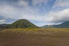 View of the volcano Bromo in the Indonesia Jawa island Royalty Free Stock Photo