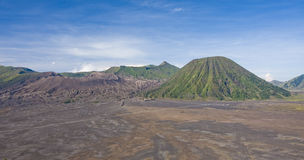 View of the volcano Bromo in the Indonesia Jawa island Stock Image