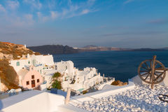 View of volcano caldera, Santorini Royalty Free Stock Image