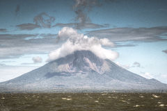 View of volcano Concepcion on Ometepe Island in lake Nicaragua in Nicaragua. View of volcano Concepcion located on Ometepe Island in lake Nicaragua in Nicaragua Royalty Free Stock Photography