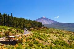 View of the Volcano El Teide in Tenerife Stock Photography