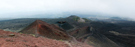 View from volcano Etna Royalty Free Stock Photography