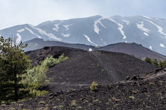 View of Volcano Etna from Mounts Sartorius Stock Image