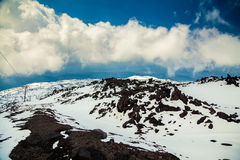 View from volcano Etna in spring Royalty Free Stock Photography
