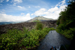 Volcano Gunung batur Stock Photo