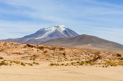 View of a volcano in the High Andean Plateau, Bolivia Royalty Free Stock Photos