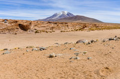 View of a volcano in the High Andean Plateau, Bolivia Royalty Free Stock Image