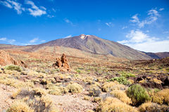 View of volcano Mount Teide, Tenerife Royalty Free Stock Photo