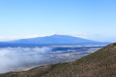 VIew of Volcano. View of the volcano from the observatory in Hawaii royalty free stock images