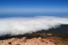 View from volcano Pico del Teide in Tenerife Royalty Free Stock Image