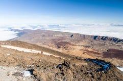 View from volcano Teide, Tenerife Royalty Free Stock Photos