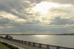 View on the Volga embankment Royalty Free Stock Image