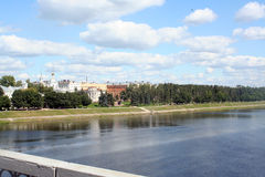 View on Volga quay Royalty Free Stock Photography
