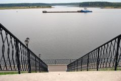 View of the Volga river embankment in Myshkin, Russia Royalty Free Stock Photos
