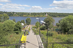 View of Volga river in Tutaev Stock Images
