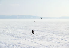 A view of Volga River in winter Stock Image