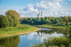 View of the Vologda Kremlin from the river Royalty Free Stock Photo