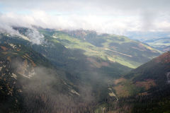 View from Volovec at Tatra mountains Royalty Free Stock Image