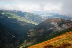 View from Volovec at Tatra mountains Stock Images