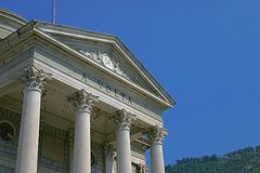 View of the Volta Temple in Como, Italy Stock Image