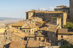 View of Volterra and landscape Stock Photography