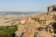 View of Volterra and landscape Royalty Free Stock Photography