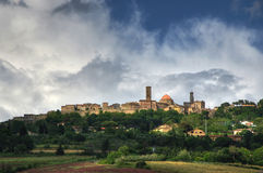 View on Volterra,Tuscany, Italy Royalty Free Stock Photography