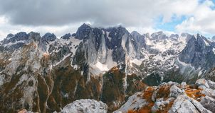 View from Volusnica mount, Montenegro stock photography