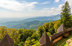 View of Vosges mountains from Haut-Koenigsbourg Castle Stock Images