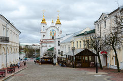 View of the Voskresenskaya (Rynkovaya) church, Vitebsk, Belarus Royalty Free Stock Photos