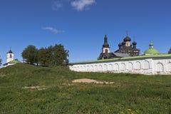 View of the Voskresensky Goritsky female monastery in the Vologda region Stock Image