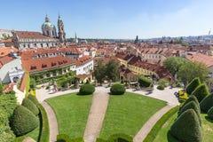 View of the Vrtba Garden in Prague royalty free stock photo