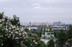 View Vudubickiy , Kiev. Orthodox Church Stock Photos