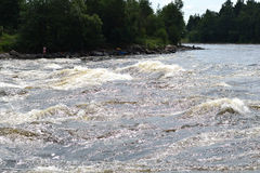 View of Vuoksi river Royalty Free Stock Photo