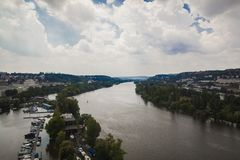 View from Vyšehrad royalty free stock images