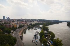 View from Vyšehrad stock images