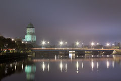 View of the Vyborg castle to night. Royalty Free Stock Image