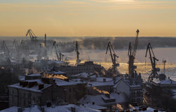 View of the Vyborg port Royalty Free Stock Photography