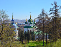 View of Vydubychi Monastery Stock Image