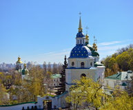 View of Vydubychi Monastery Stock Photography