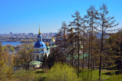 View of Vydubychi Monastery Royalty Free Stock Photos