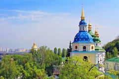 View of Vydubychi Monastery, Kyiv, Ukraine Stock Photos