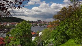View from Vysehrad after rain. stock video footage