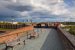View from Vysehrad after rain, Prague, Czech Republic Royalty Free Stock Photos