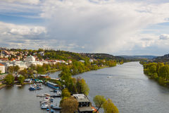View from Vysehrad after rain, Prague, Czech Republic Stock Images