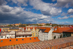 View from Vysehrad after rain, Prague, Czech Republic Stock Photo